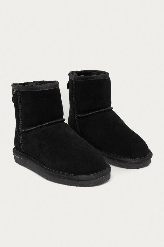 Answear Lab - Cizme de zapada din piele intoarsa negru