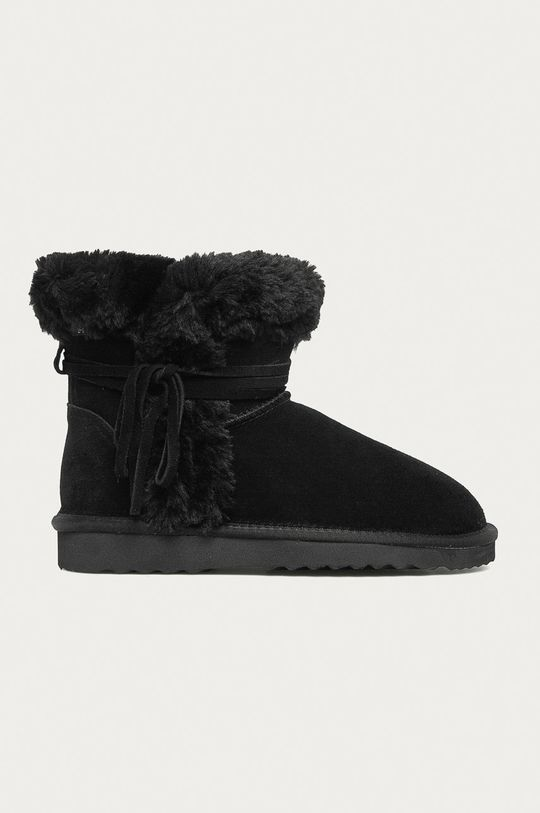 čierna Answear - Kožené snehule Answear Lab Dámsky