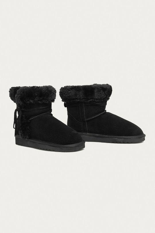 Answear - Kožené snehule Answear Lab čierna