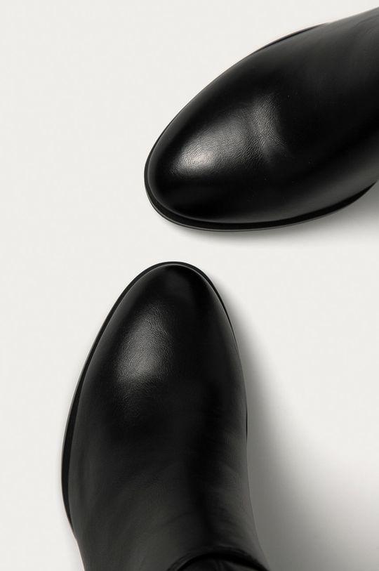 černá Answear Lab - Kozačky
