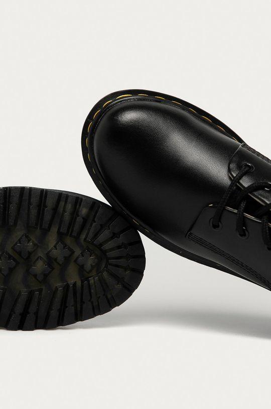 čierna Answear Lab - Kožené poltopánky