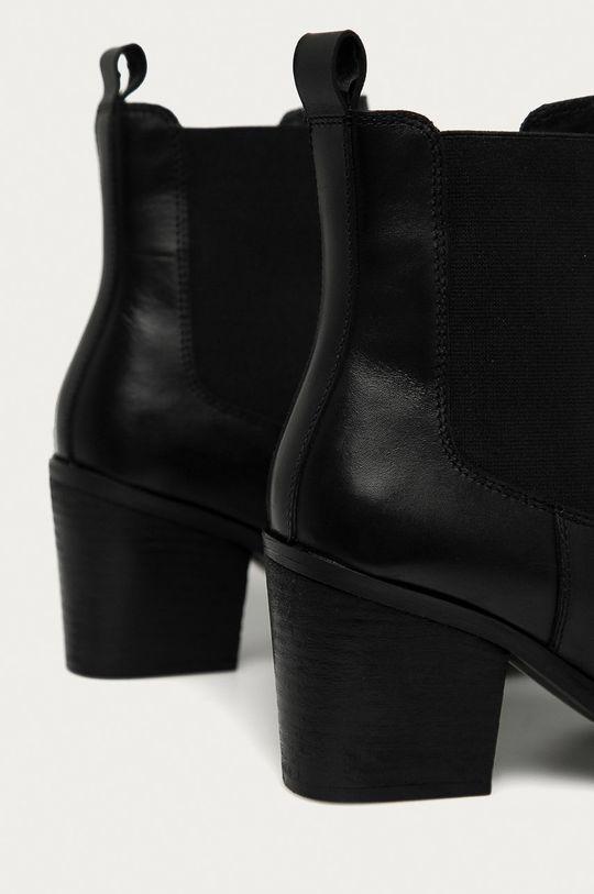 Answear - Cizme de piele Answear Lab negru
