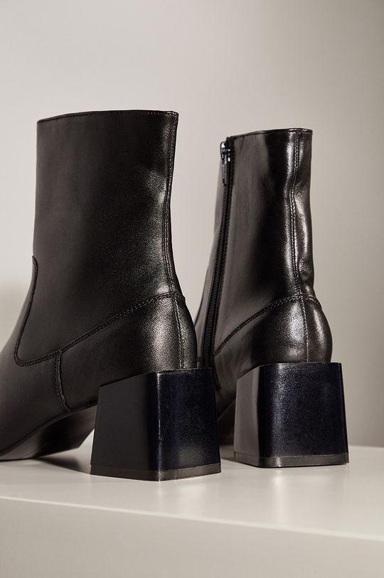 čierna Answear.LAB limitovaná kolekcia - Kožené členkové topánky