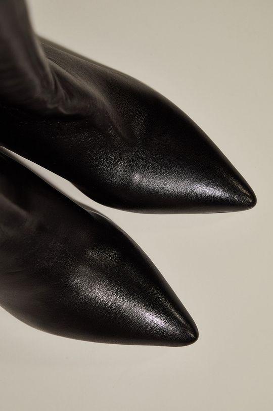 Answear.LAB limitovaná kolekce - Kožené kozačky  Svršek: Přírodní kůže Vnitřek: Textilní materiál, Přírodní kůže Podrážka: Umělá hmota