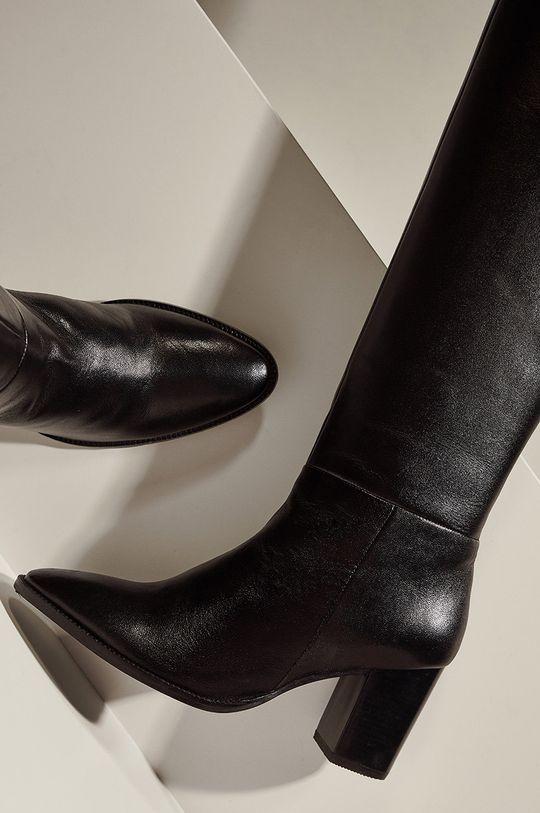 Answear.LAB limitovaná kolekcia - Kožené čižmy  Prírodná koža Vnútro: Textil, Prírodná koža Podrážka: Syntetická látka