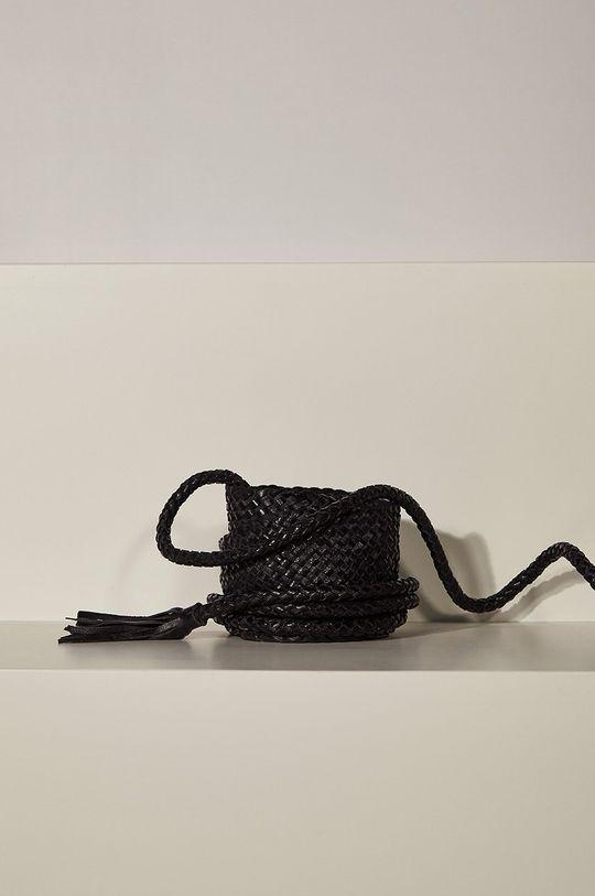 negru Answear - Curea de piele answear.LAB limited collection De femei