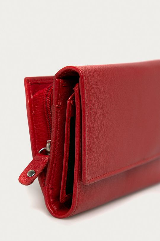 Answear Lab - Kožená peňaženka červená