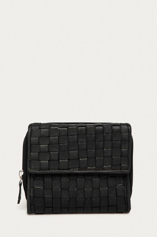 čierna Answear Lab - Kožená peňaženka Dámsky