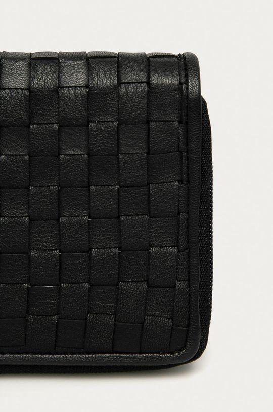 Answear Lab - Kožená peňaženka čierna