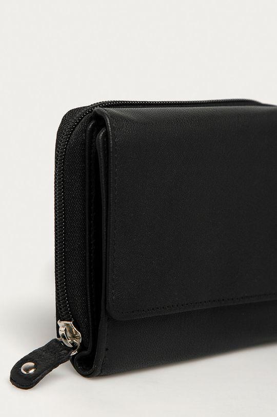 černá Answear Lab - Kožená peněženka