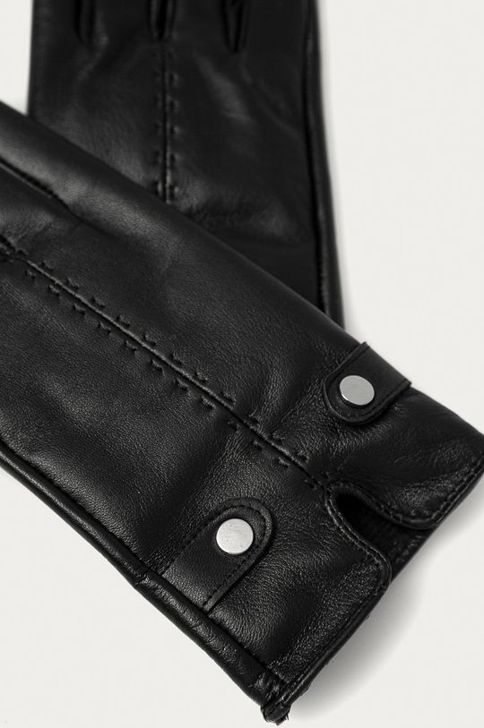 Answear Lab - Kožené rukavice čierna