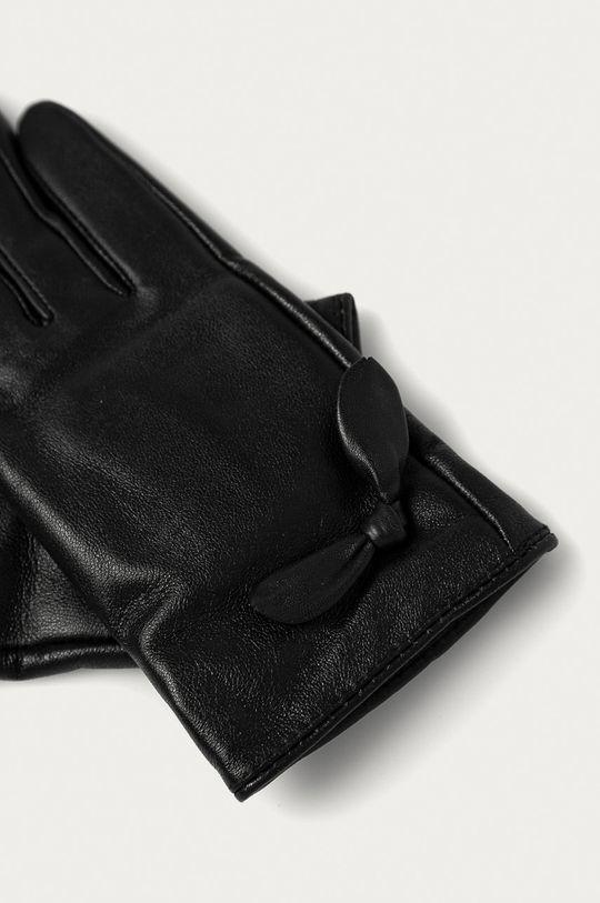 Answear Lab - Kožené rukavice černá