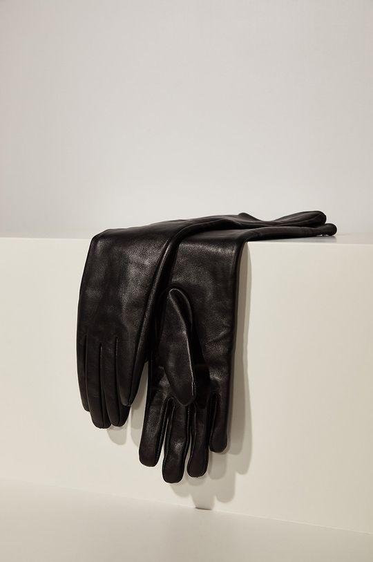 Answear - Manusi de piele answear.LAB limited collection negru