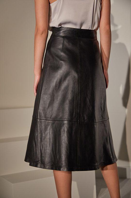 Answear.LAB limitovaná kolekcia - Kožená sukňa  100% Prírodná koža