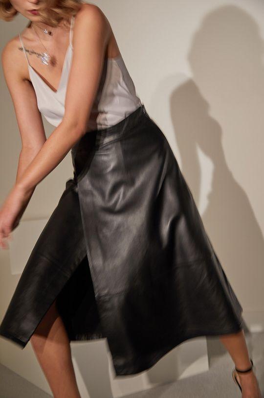 čierna Answear.LAB limitovaná kolekcia - Kožená sukňa