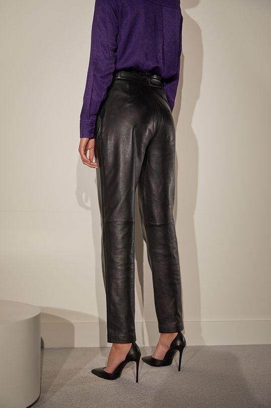 Answear.LAB limitovaná kolekcia - Kožené nohavice  100% Prírodná koža