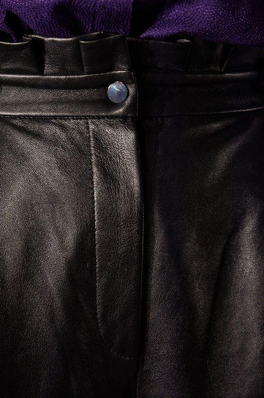 černá Answear.LAB limitovaná kolekce - Kožené kalhoty