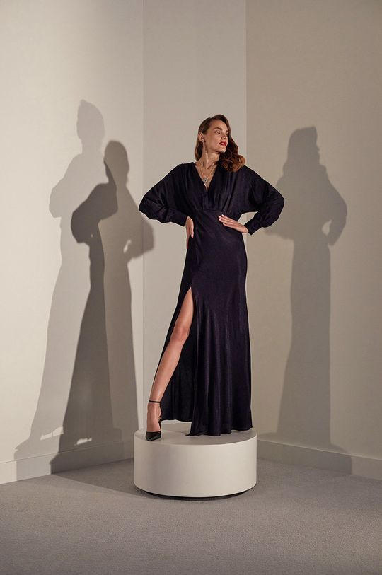 answear.LAB limited collection - Rochie albastru metalizat