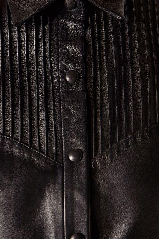 černá Answear.LAB limitovaná kolekce - Kožené šaty