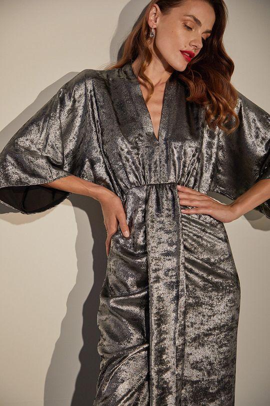 Answear.LAB limitovaná kolekce - Šaty stříbrná