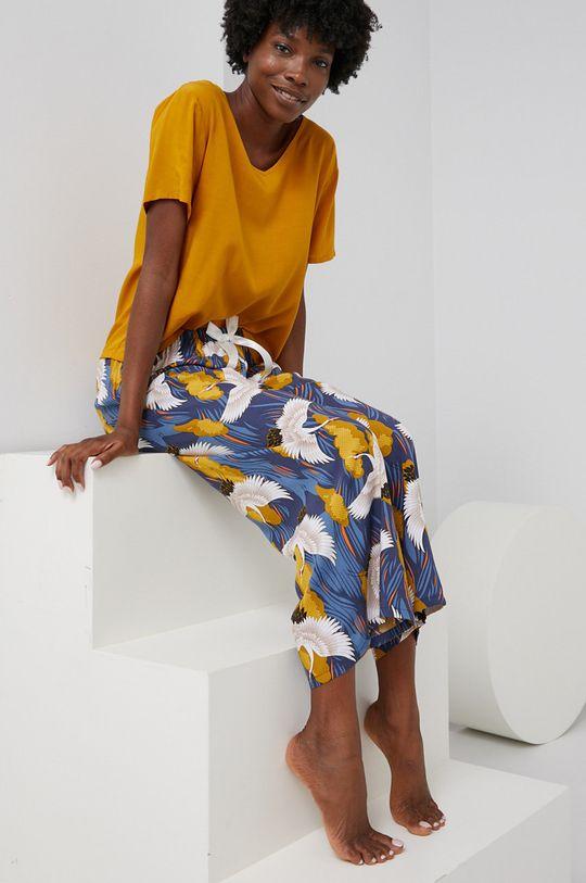 žlutá Answear Lab - Pyžamo Dámský