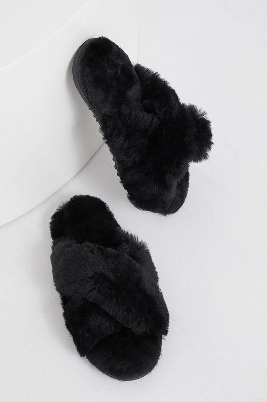 Answear Lab - Kapcie wełniane czarny