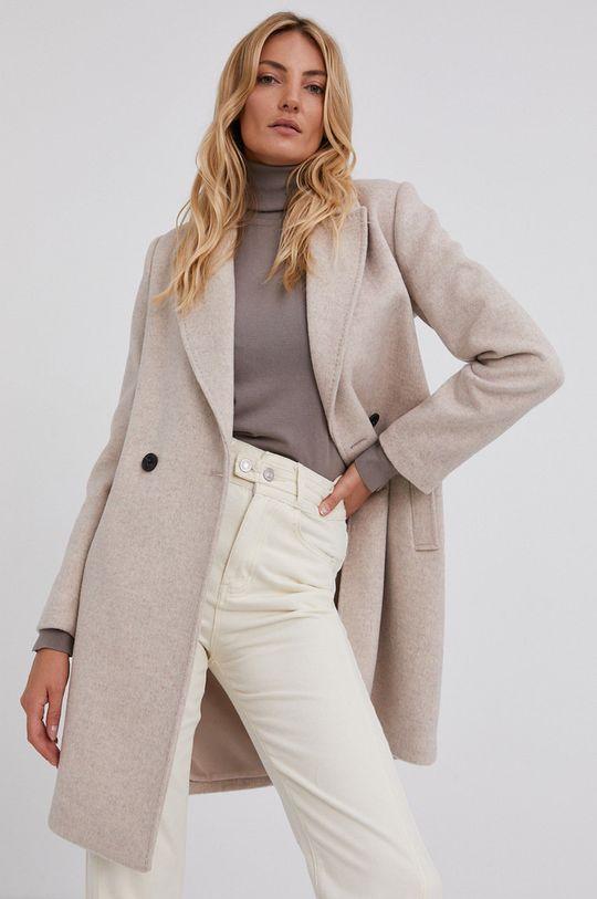 beżowy Answear Lab - Płaszcz wełniany Damski