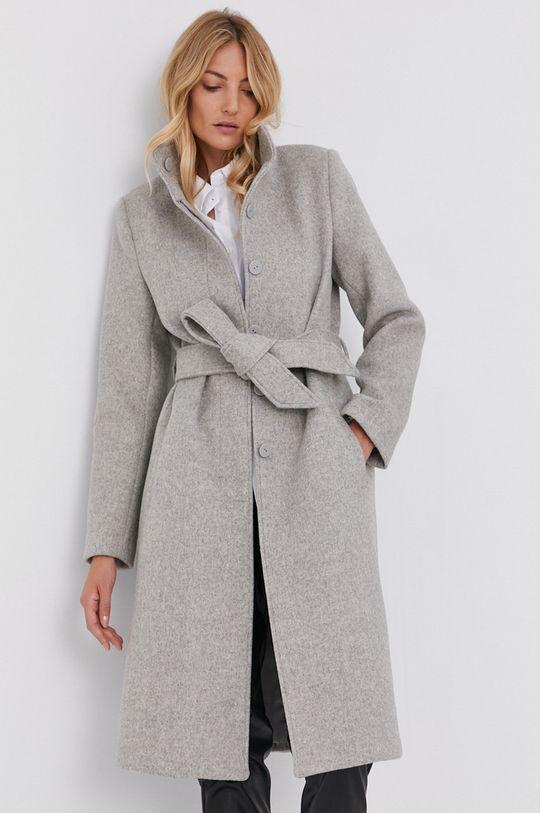 szary Answear Lab - Płaszcz wełniany Damski