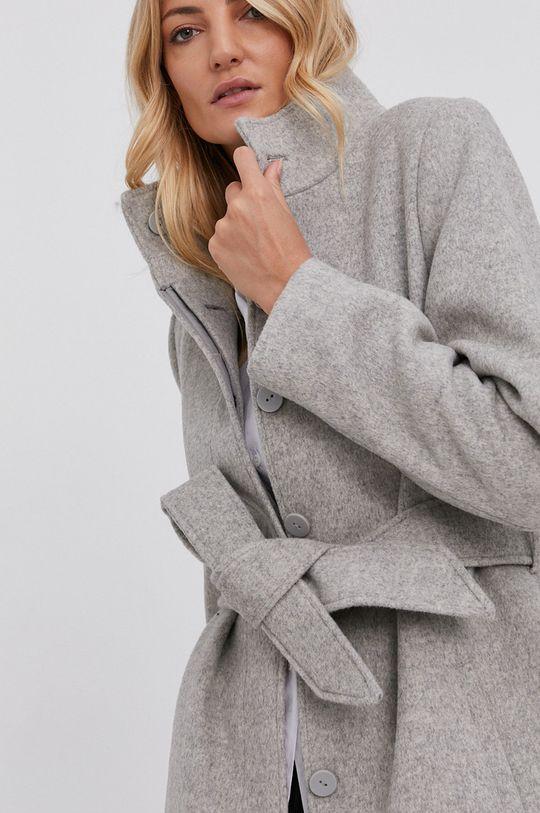 szary Answear Lab - Płaszcz wełniany