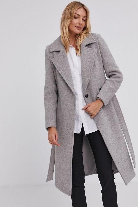 Answear Lab - Płaszcz wełniany szary