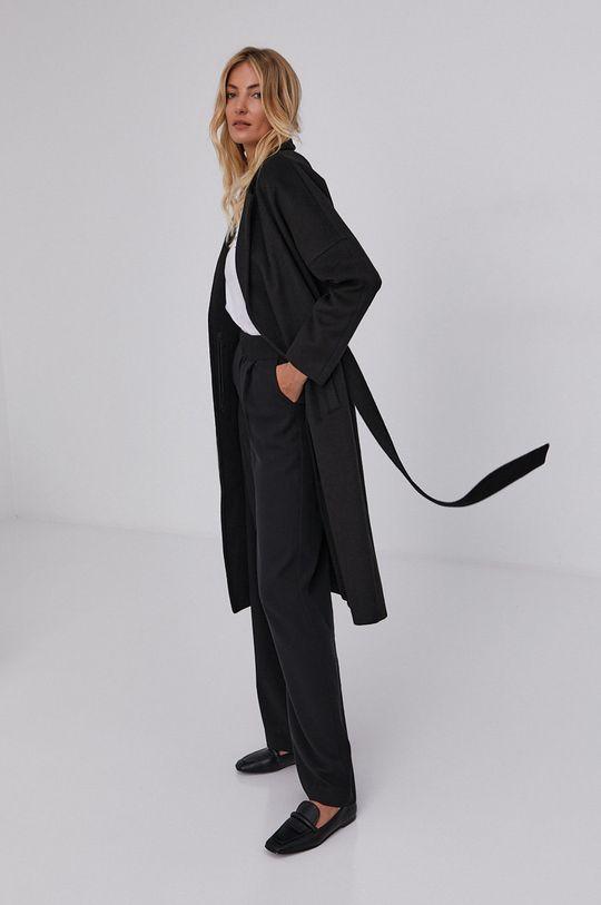 czarny Answear Lab - Płaszcz wełniany Damski