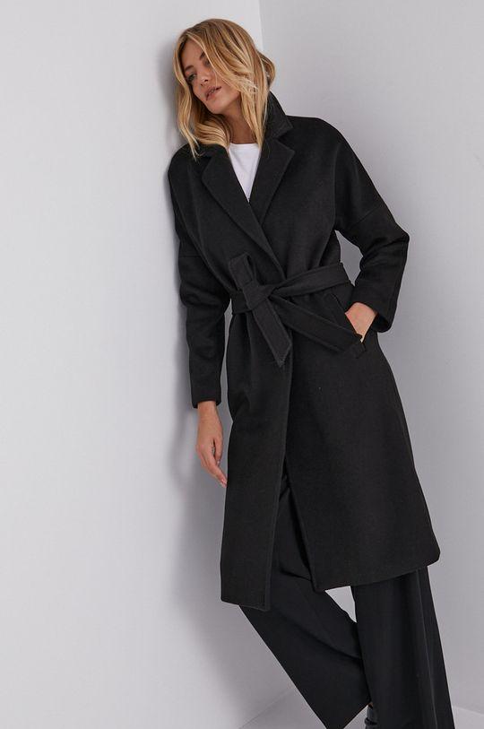 Answear Lab - Płaszcz wełniany czarny