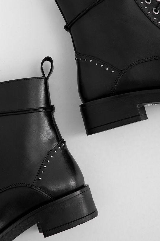 negru Answear Lab - Cizme de piele