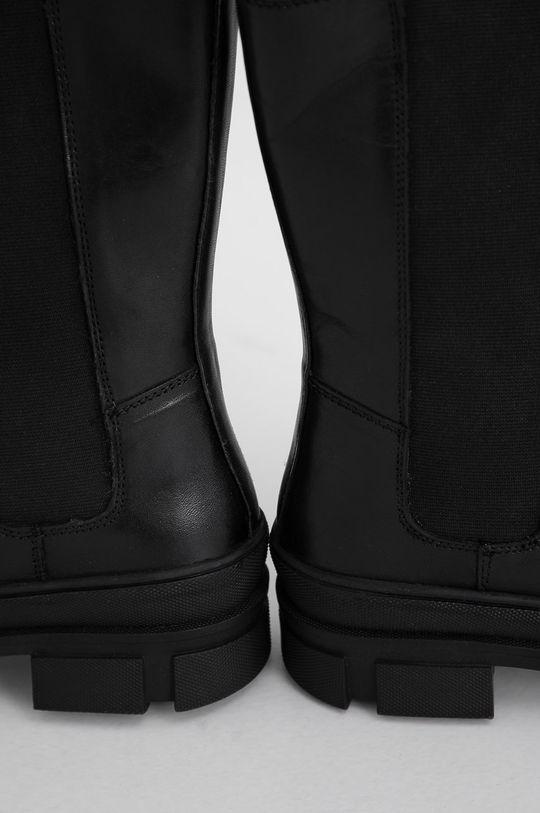Answear Lab - Kožené topánky Chelsea  Zvršok: Prírodná koža Vnútro: Syntetická látka, Textil Podrážka: Syntetická látka