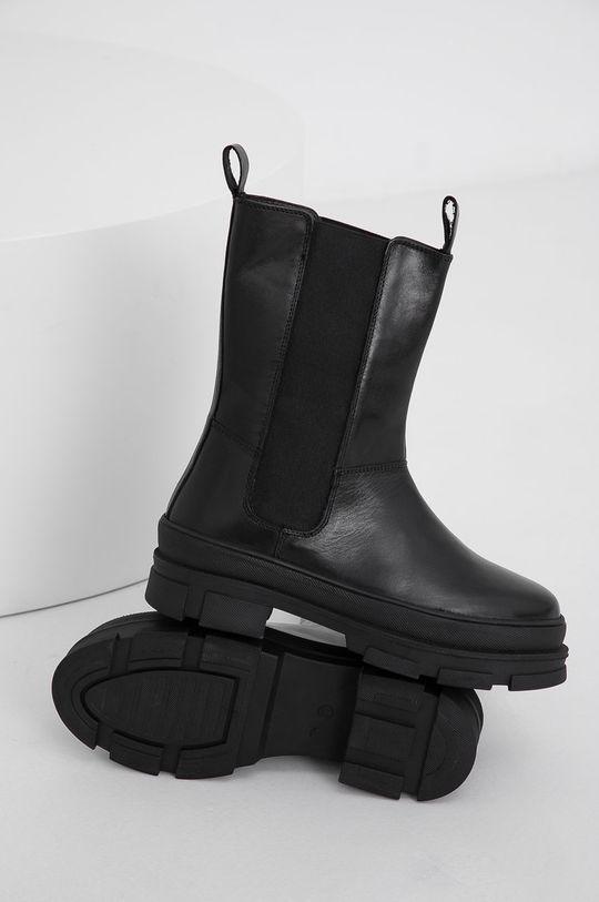 čierna Answear Lab - Kožené topánky Chelsea