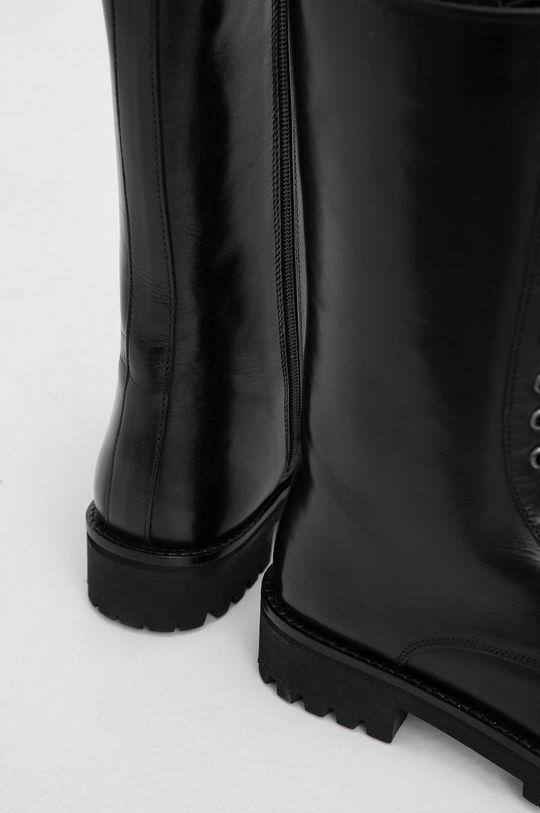 Answear Lab - Bocanci de piele  Gamba: Piele naturala Interiorul: Material sintetic, Material textil Talpa: Material sintetic