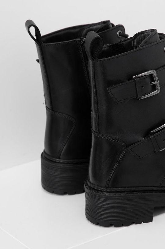 Answear Lab - Kožené členkové topánky  Zvršok: Prírodná koža Vnútro: Syntetická látka, Textil Podrážka: Syntetická látka