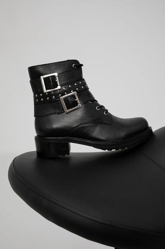 negru Answear Lab - Cizme de piele De femei