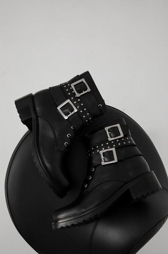 Answear Lab - Cizme de piele negru