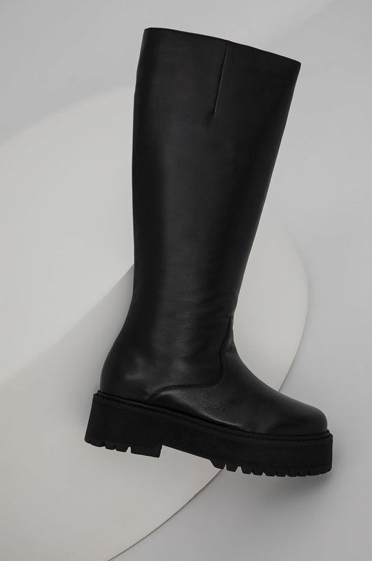 negru Answear Lab - Ghete de piele De femei