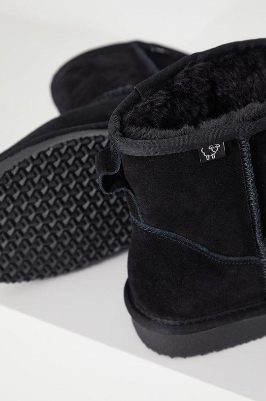 czarny Answear Lab - Śniegowce zamszowe