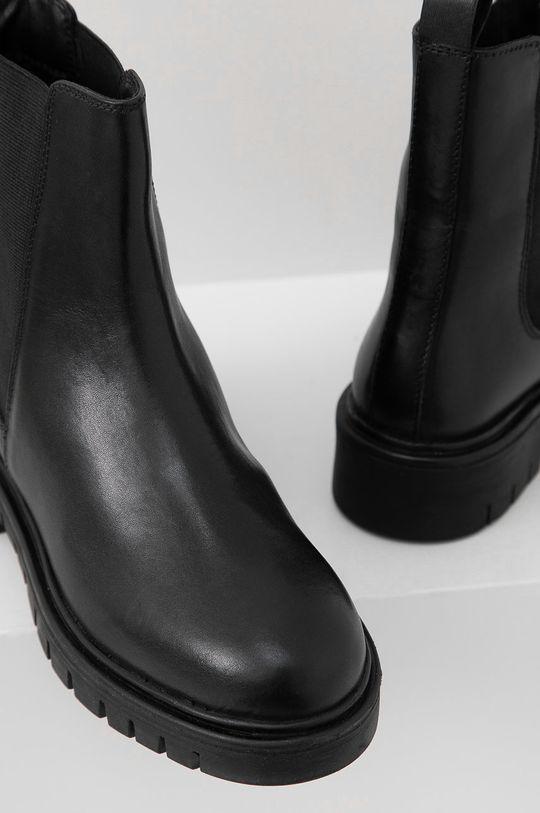 Answear Lab - Ghete Chelsea de piele  Gamba: Piele naturala Interiorul: Material sintetic, Material textil Talpa: Material sintetic