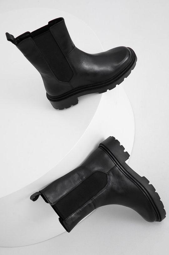 Answear Lab - Ghete Chelsea de piele negru
