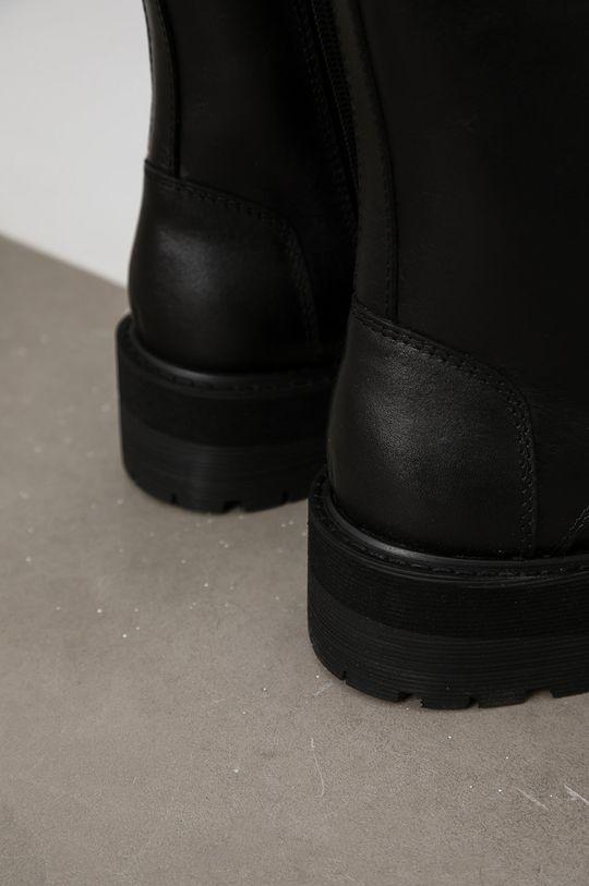 Answear Lab - Bocanci de piele  Gamba: Piele naturala Interiorul: Material sintetic Talpa: Material sintetic