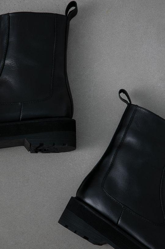 Answear Lab - Cizme de piele  Gamba: Piele naturala Interiorul: Material sintetic Talpa: Material sintetic