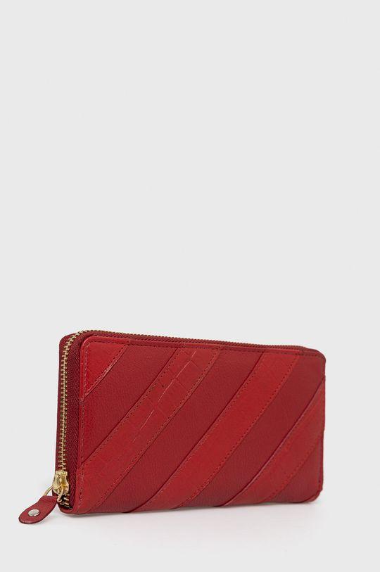 Answear Lab - Portfel skórzany czerwony