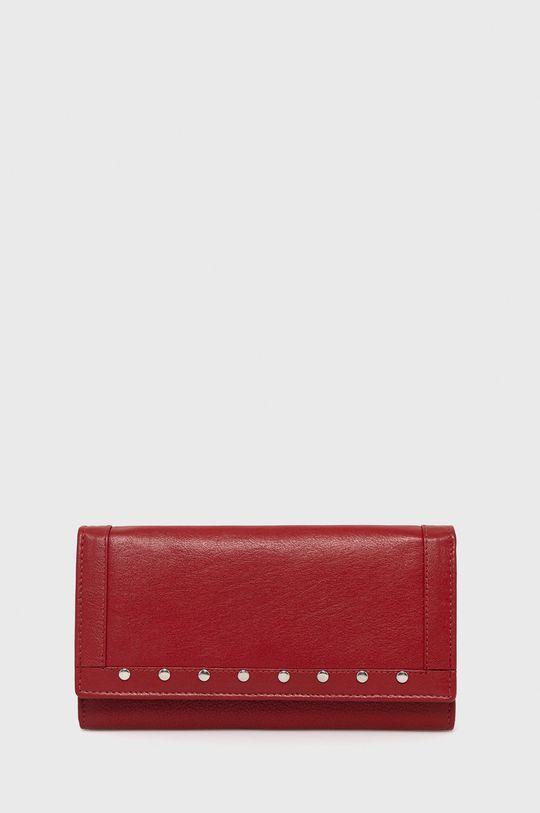 czerwony Answear Lab - Portfel skórzany Damski