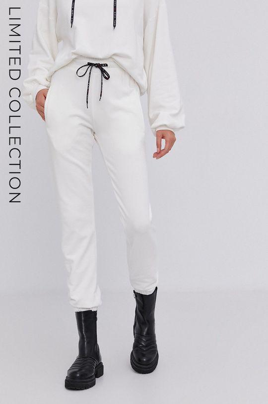 kremowy Spodnie answear.LAB X kolekcja limitowana GIRL POWER, CERTYFIKAT OEKO-TEX i GOTS Damski