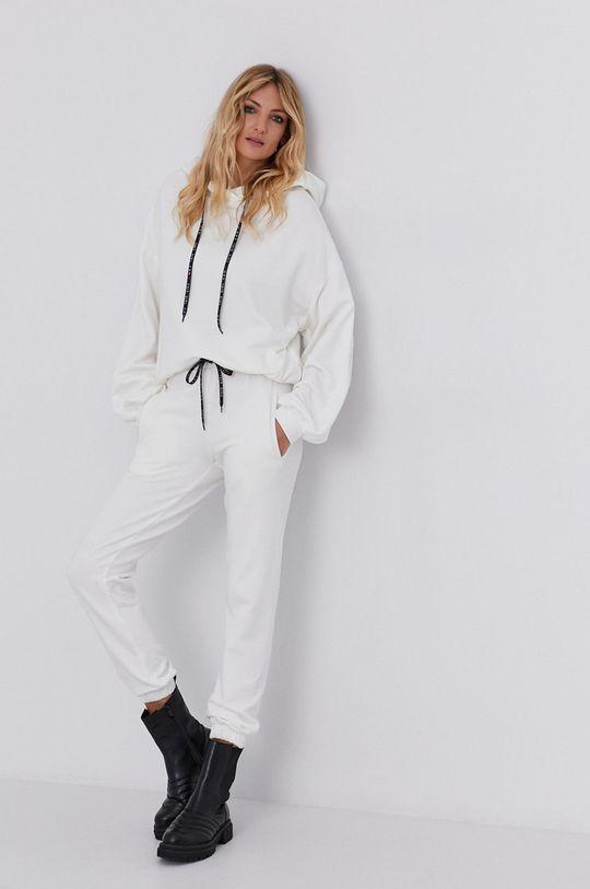 Spodnie answear.LAB X kolekcja limitowana GIRL POWER, CERTYFIKAT OEKO-TEX i GOTS kremowy
