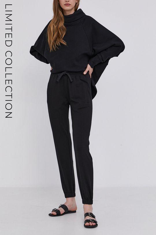 černá answear.LAB Kalhoty s certifikátem OEKO limitovaná kolekce Ethical Wardrobe Dámský